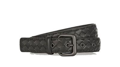 """<a href=""""http://www.net-a-porter.com/product/539081/Bottega_Veneta/intrecciato-leather-belt#""""> Intrecciato leather belt, $561.38, Bottega Veneta  </a>"""