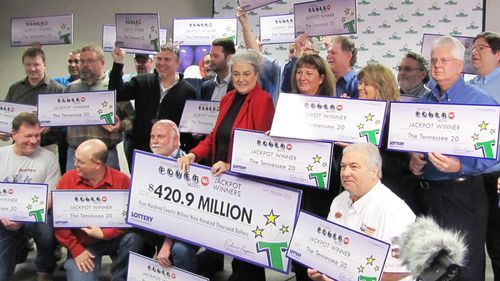 US co-workers who 'always helped others' win half-billion lottery jackpot