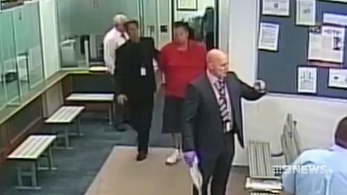 He was detained by security in the Joondalup Courthouse.