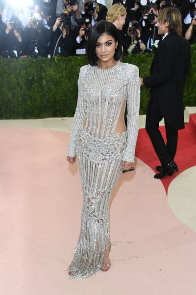 Kylie Jenner at the 2016 Met Gala in Balmain.