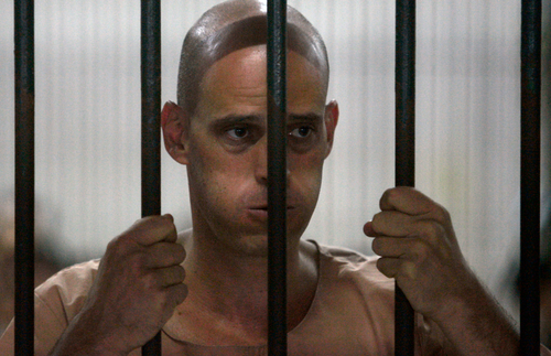Australian writer Harry Nicolaides served six months of a three year sentence in a Thai prison for supposedly defaming the royal family.