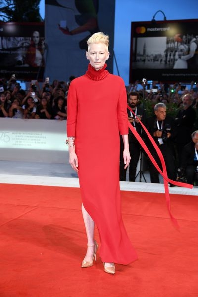 Tilda Swinton at the 2018 Venice Film Festival