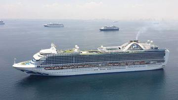 The Ruby Princess anchored in Manila Bay anchorage area on Thursday, May 7.