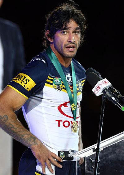 JT won the coveted Clive Churchill medal as the grand final man of the match.