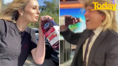 Karl Stefanovic, Ally Langdon brand each other 'cheaters' after Tik Tok challenge