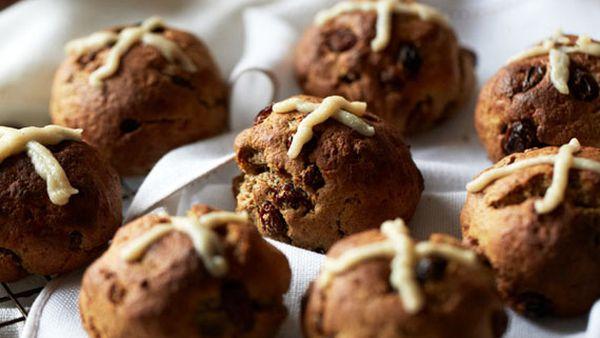 Brooke Meredith's healthier hot cross buns