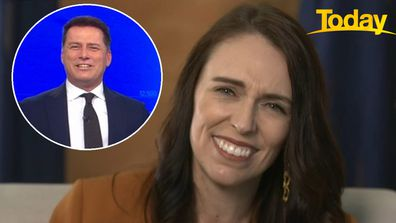 Ardern doesn't bat eye at Karl Stefanovic's cheeky question
