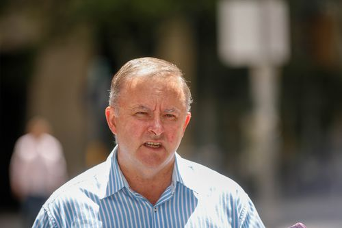Mr Albanese spoke at a press conference yesterday. (AAP)