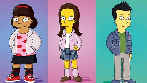 First look: the cast of Glee on The Simpsons
