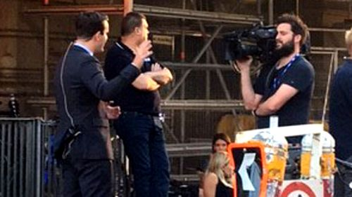 A Current Affair's Reid Butler reports on the unfolding scene. (Supplied)
