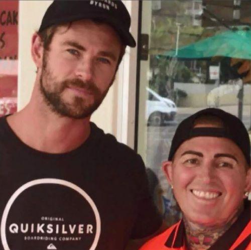 Hemsworth with Bronwyn Noffke.