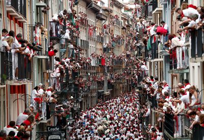 The streets of Pamplona are packed this time of the year