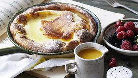 Annabel Crabb's puffy pancake with honey and orange syrup