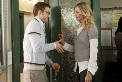 Cameron proved she can still tackle hot leading lady roles, well into her late thirties, by playing an immorally seductive school teacher in <i>Bad Teacher</i>, alongside ex Justin Timberlake.<br/><br/>(Image: Columbia Pictures</i>