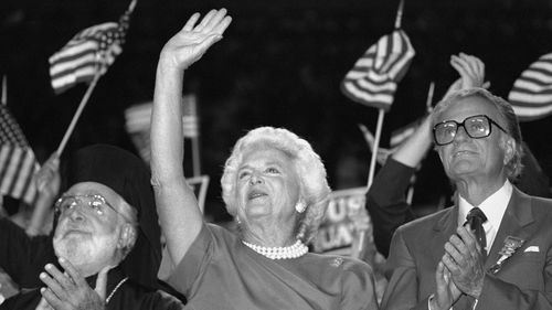 George and Barbara Bush had the longest presidential marriage in history. (AAP)