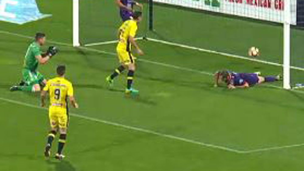Perth Glory score bizarre own goal in draw with Central Coast