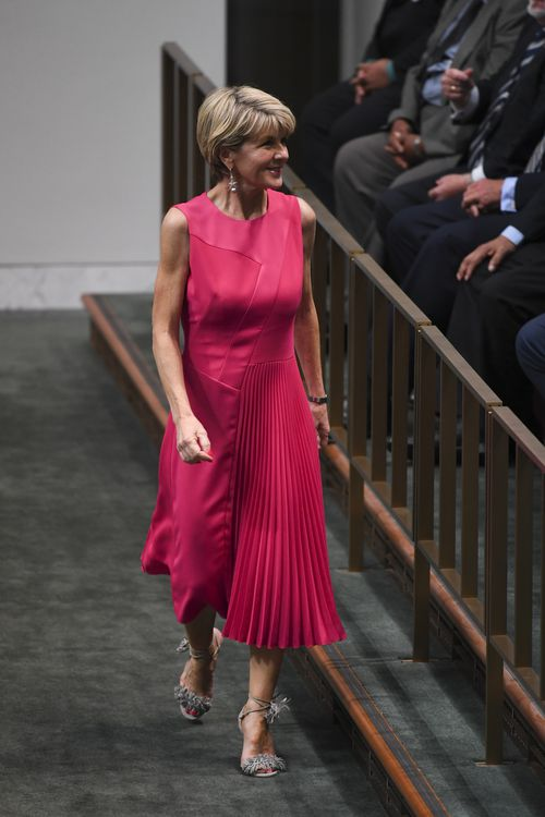 Julie Bishop donned this stunning pink number last Monday. It was deemed appropriate.