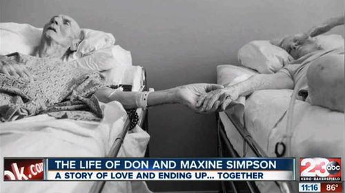 Don and Maxine Simpson's family photographed their final moments together. (Pic: KERO)
