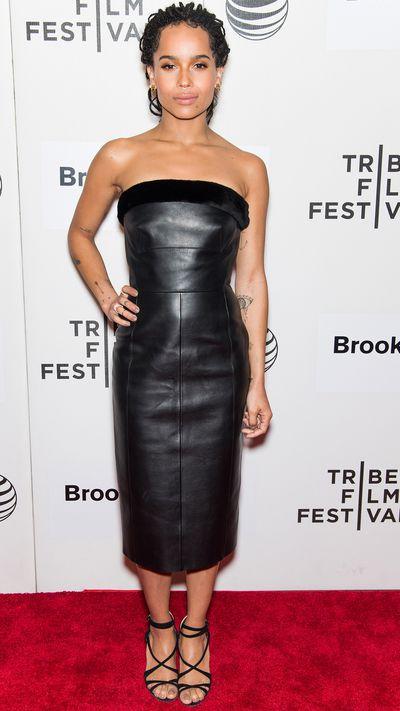 In Balenciaga at the Tribeca Film Festival for her movie <em>Good Kill</em>.