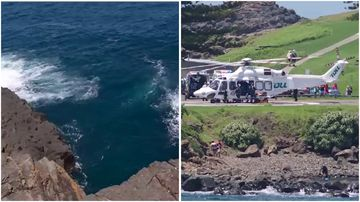 A scuba diver has drowned near the Kiama Blowhole south of Sydney
