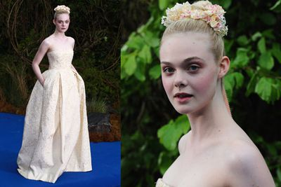 Elle Fanning was also there looking absolutely stunning. The 16-year-old plays Princess Aurora in the film.