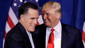 Mitt Romney and Donald Trump in 2012. (AP)