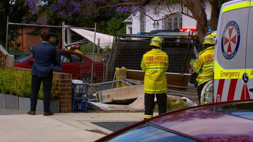 A man was crushed underneath his car in Summer Hill in Sydney's inner-west.