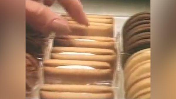 Arnott's assorted creams biscuits in 1984