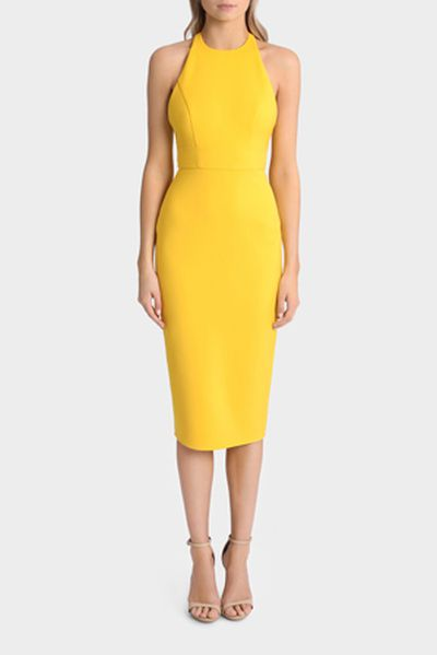 "Alex Perry Aileen dress at <a href=""https://www.myer.com.au/shop/mystore/women/designer/designer-dresses/aileen-open-back-lady-dress-477199540"" target=""_blank"">Myer</a>, $700<br />"