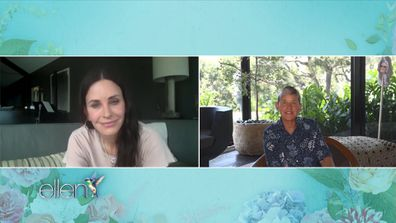 Courteney Cox Ellen Degeneres