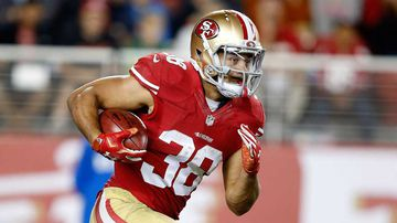 Former NRL player Jarryd Hayne has returned to the 49ers active roster. (AFP)
