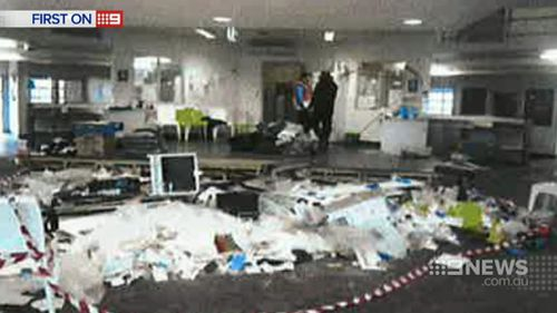 Facilities were left trashed in the riots, with the damage bill estimated to be more than $10 million. (9NEWS)