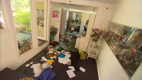 The home was ransacked by the men. (9NEWS)