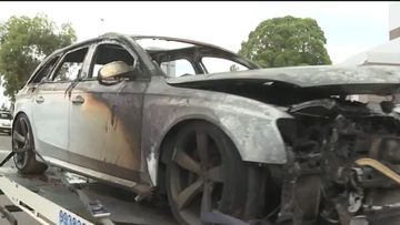 The burned out Audi is suspected of being linked to the shooting.