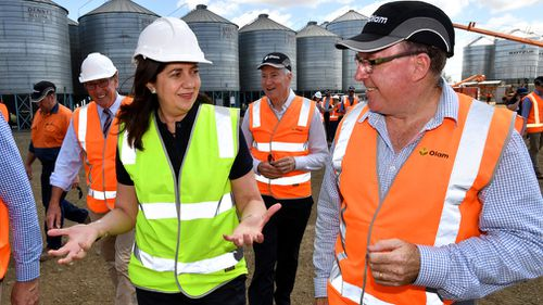Ms Palaszczuk on the campaign trail today. (AAP)