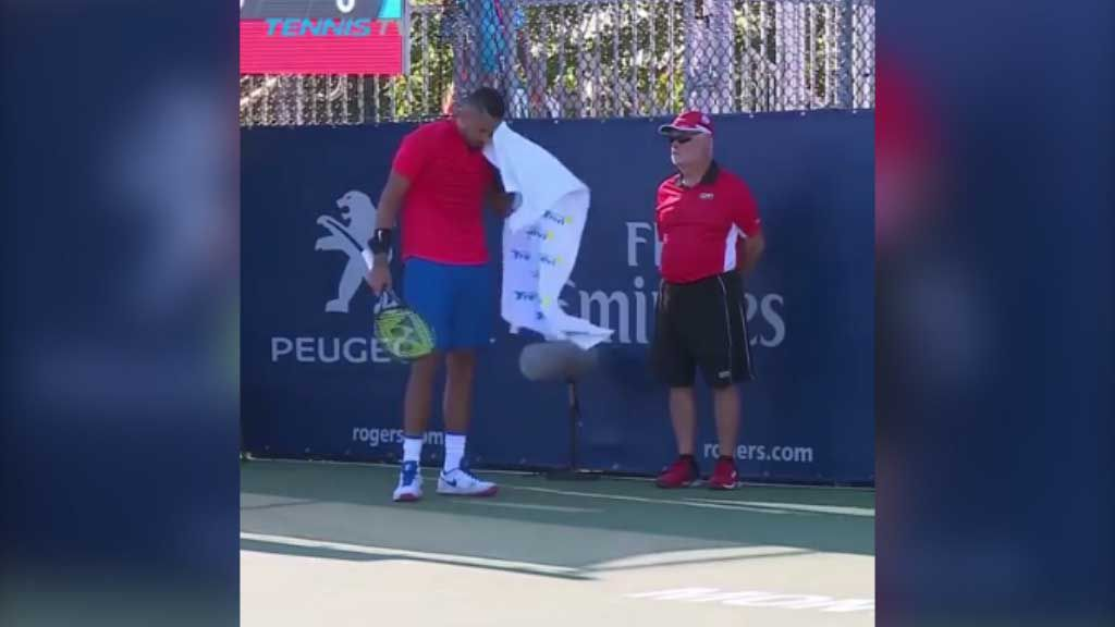 Kyrgios mistakes linesman for ball boy