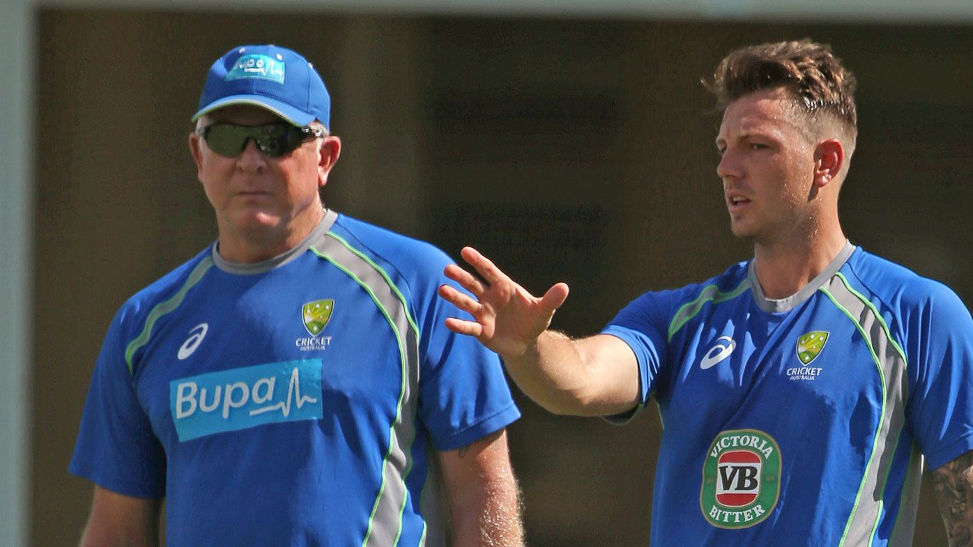 Craig McDermott with James Pattinson. (AAP)