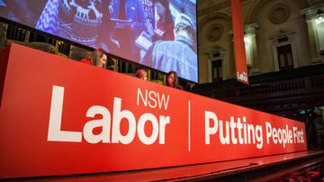 The NSW Labor Party holds its Annual Conference in Sydney Town Hall this weekend. (AAP Image/Newzulu/Hugh Peterswald)