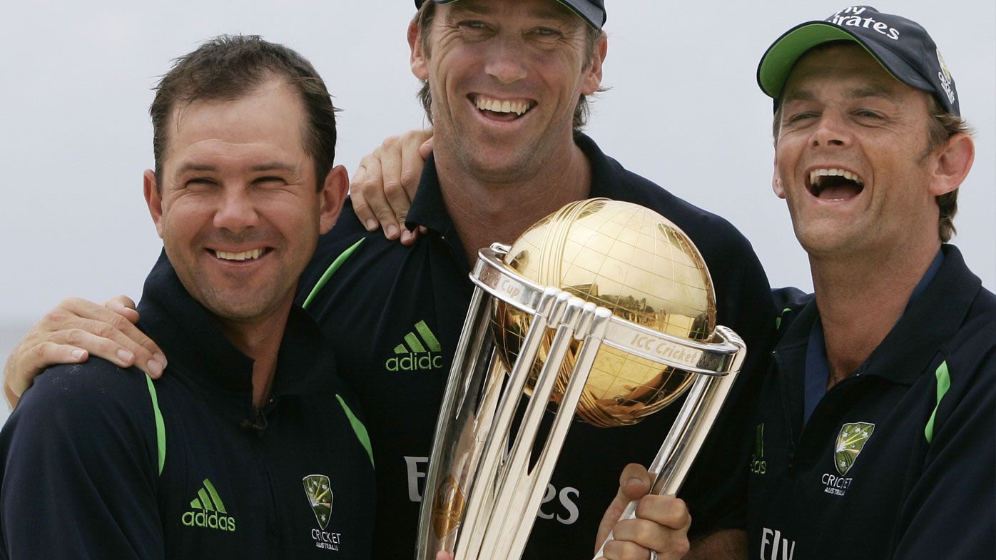 Ponting, McGrath and Gilchrist