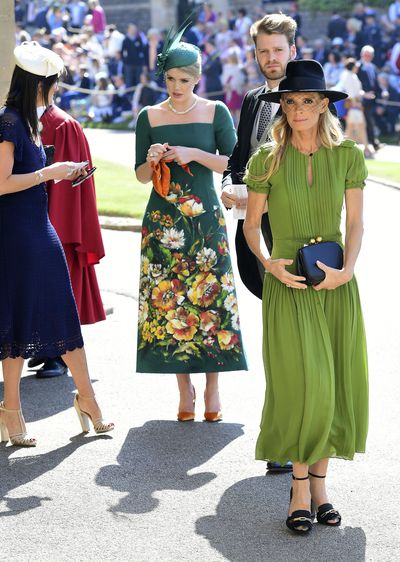 <strong>Lady Kitty Spencer</strong> pictured arriving at the Royal wedding