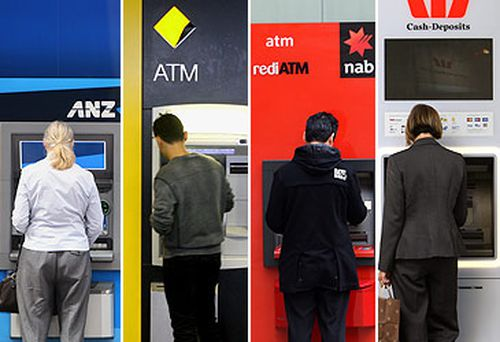 ANZ Bank, Commonwealth Bank, NAB and Westpac ATMs (AAP)