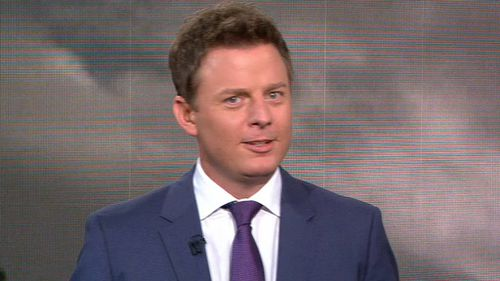 Garrett thinks TODAY sports presenter Ben Fordham looks like a mannequin. (TODAY)