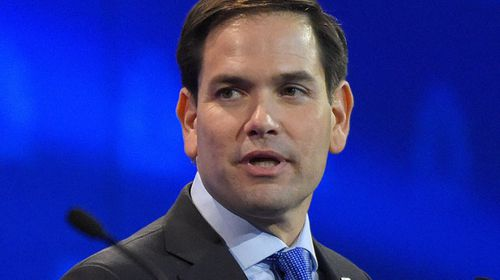 Florida senator Marco Rubio in yesterday's debate. (AAP)
