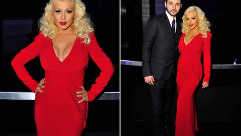 Red-hot mama! Christina Aguilera debuts post-baby bod in comeback appearance