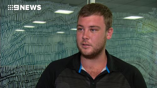 Thomas Mason admits he's lucky to be alive. (9NEWS)