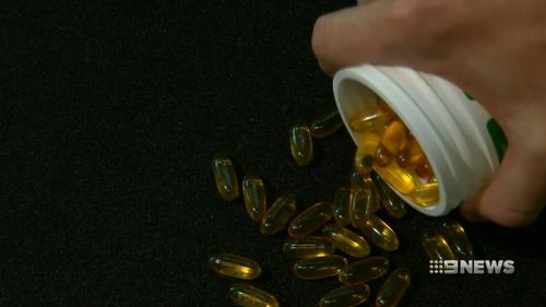 Over the past decade, the Heart Foundation has moved away from supporting fish oil supplements, now saying they have a limited place in prevention. Picture: 9NEWS.