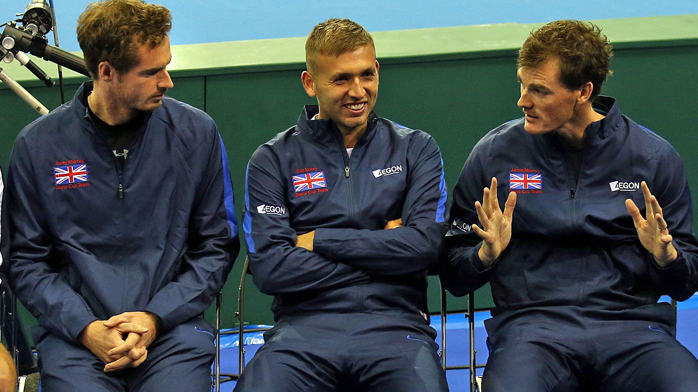 Andy and Jamie Murray and Dan Evans