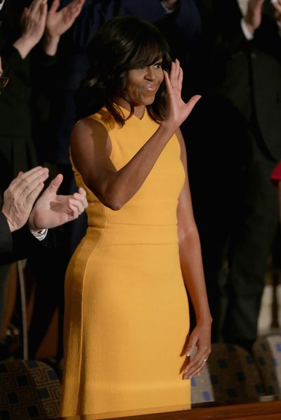 Michelle Obama in Narcisco Rodriguez at the State of the Union Address