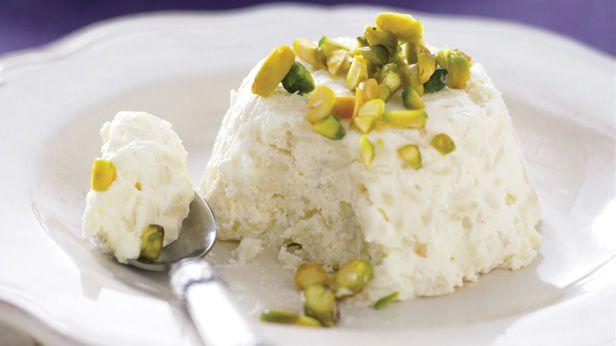 Creamy rosewater rice pudding
