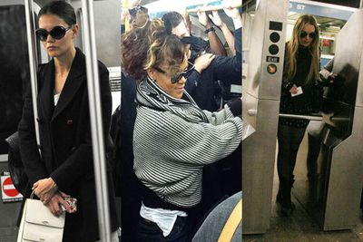 Jay Z's done it twice, Rihanna does it en route to her concerts and Kim Kardashian is very proud of the only time she got to do it...with her sister Kourtney! <br/><br/>Check out the celebs who don't mind getting caught in public...transport, that is.